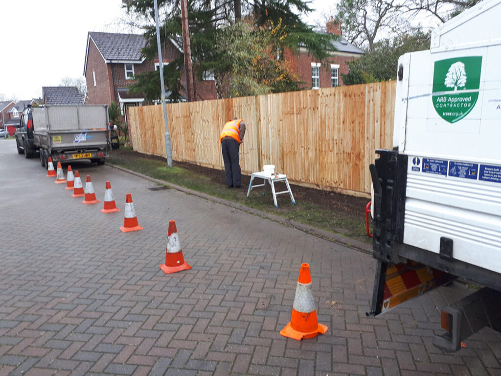 Hedge Removal Fencing